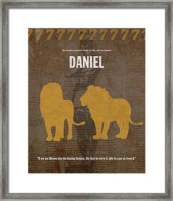 Daniel Books Of The Bible Series Old Testament Minimal Poster Art Number 27 Framed Print by Design Turnpike