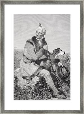 Daniel Boone 1734-1820. American Framed Print by Vintage Design Pics
