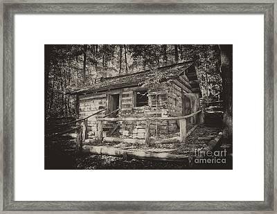 Daniel Boone Cabin Framed Print