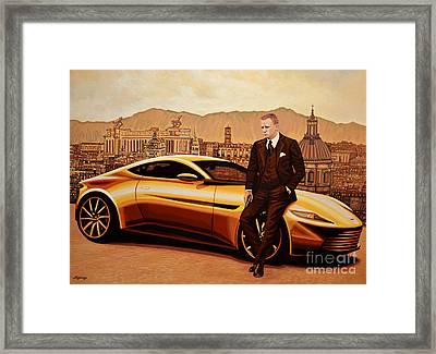 Daniel Craig As James Bond Framed Print by Paul Meijering