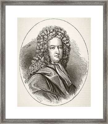 Daniel Defoe 1660 To 1731, English Framed Print