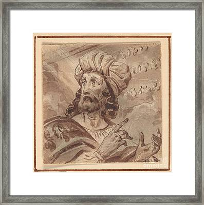Daniel Interpreting The Writing On The Wall Framed Print by Celestial Images