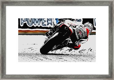 Daniel Pedrosa Framed Print