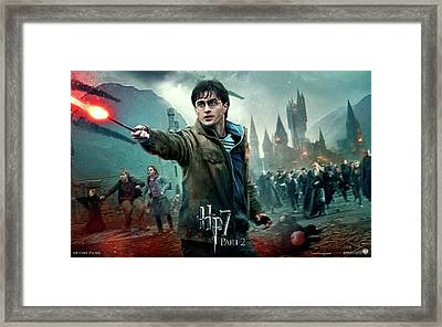 Daniel Radcliffe  In Deathly Hallows Part 2 Framed Print