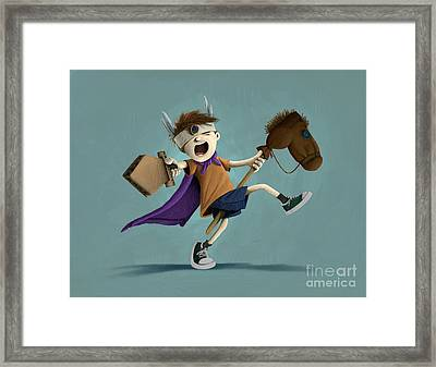 Daniel The Brave Framed Print by Michael Ciccotello