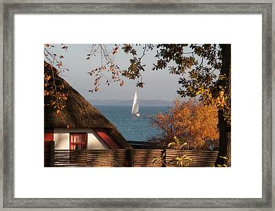 Danish Autumn Sea View Framed Print by Kim Lessel
