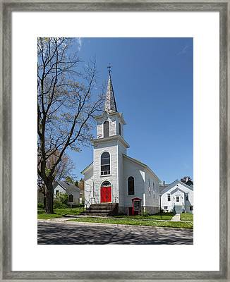 Framed Print featuring the photograph Danish Lutheran Church by Fran Riley