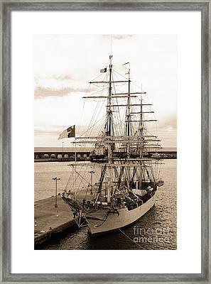 Danish Training Ship Framed Print by Gaspar Avila