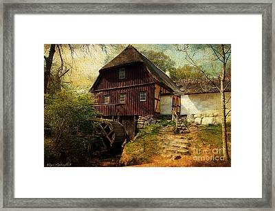 Danish Watermill Anno 1600 Framed Print