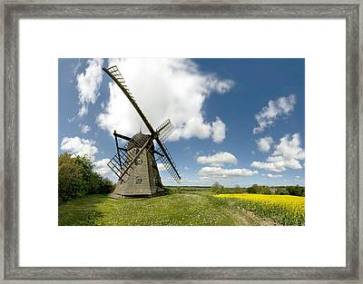 Danish Windmill Framed Print