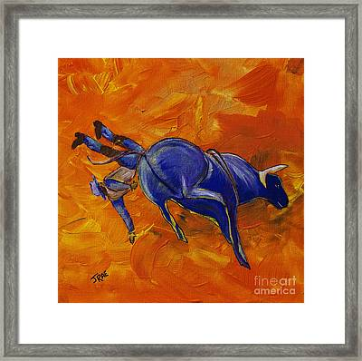 Framed Print featuring the painting Danny At The Rodeo by Janice Rae Pariza