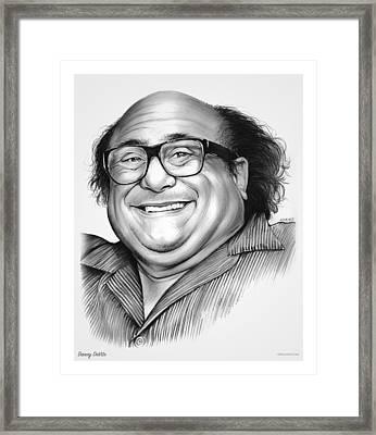 Danny Devito Framed Print by Greg Joens