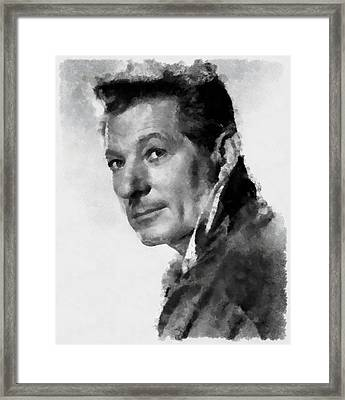 Danny Kaye Actor Framed Print by Esoterica Art Agency