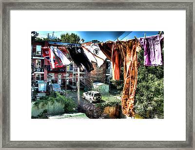Dans Le Vent Framed Print