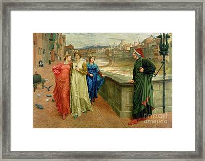 Dante And Beatrice Framed Print by Henry Holiday