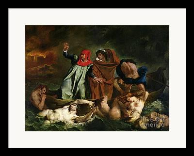 Dante Et Virgile Framed Prints