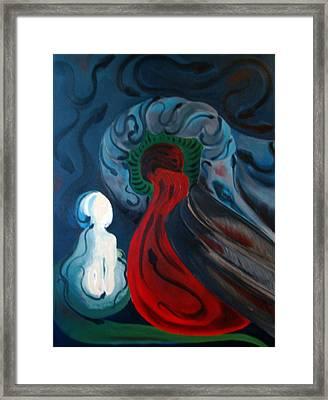 Dante Framed Print by DeLa Hayes Coward