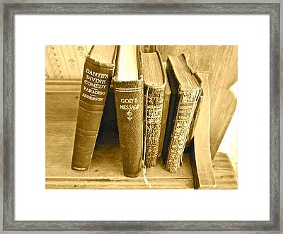 Dante God And Shakespeare ... Framed Print by Gwyn Newcombe