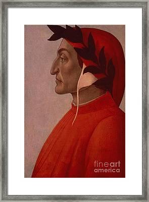 Dante Framed Print by Sandro Botticelli