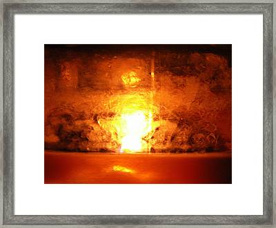 Dante's Inferno Photos Thirty Two Flame Up Framed Print