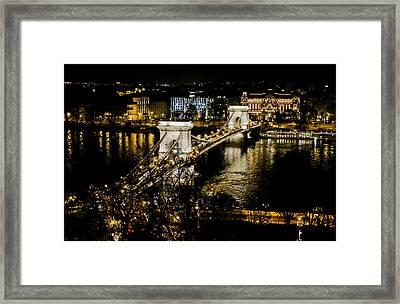 Danube Chain Bridge Framed Print