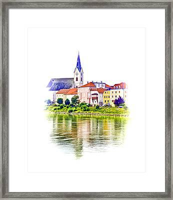 Danube Village Framed Print by Dennis Cox WorldViews