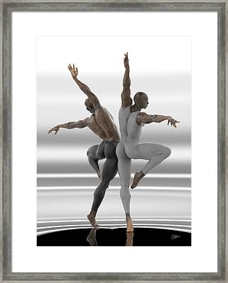 Danza En Pareja Framed Print by Joaquin Abella