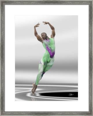 Danza En Verde Framed Print by Joaquin Abella