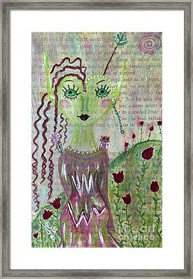 Framed Print featuring the painting Daphne by Julie Engelhardt