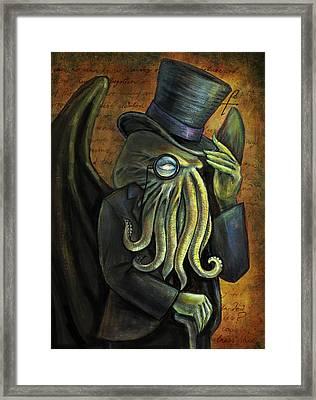 Dapper Cthulhu Framed Print by Diana Levin