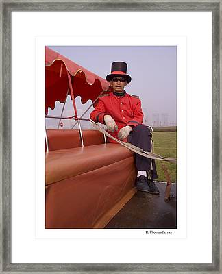 Framed Print featuring the photograph Dapper Dan From Dalian by R Thomas Berner