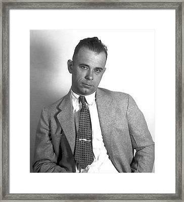 Dapper Dillinger Framed Print