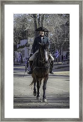 Dapper Rider Framed Print