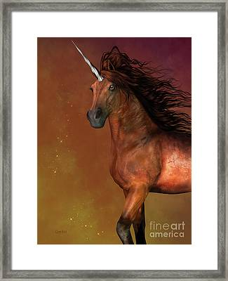 Dapple Bay Unicorn Framed Print by Corey Ford