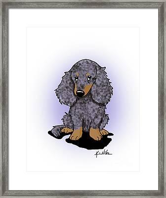 Dapple Doxie Framed Print