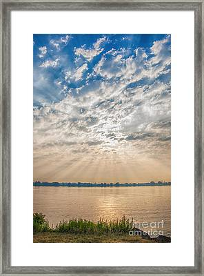 Framed Print featuring the mixed media Dappled Dawn by Terry Rowe