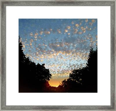 Dappled Sky Framed Print
