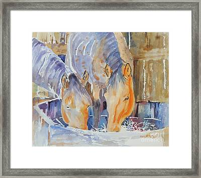 Framed Print featuring the painting Dappled Sunlight by Mary Haley-Rocks
