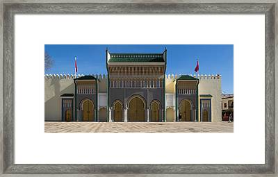 Dar-el-makhzen The Royal Palace Framed Print by Panoramic Images