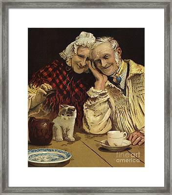 Darby And Joan  Framed Print by English School