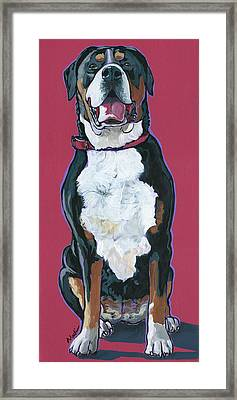 Framed Print featuring the painting Darby by Nadi Spencer