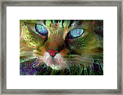 Darby The Long Haired Cat Framed Print