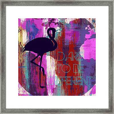 Dare To Be Different Framed Print by Brandi Fitzgerald