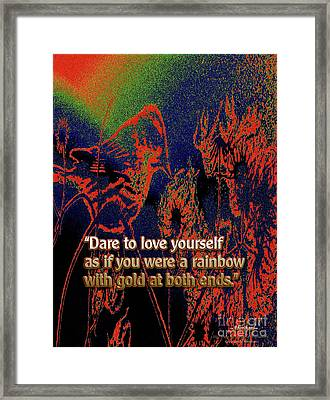 Dare To Love Yourself On National Selfie Day Framed Print by Aberjhani