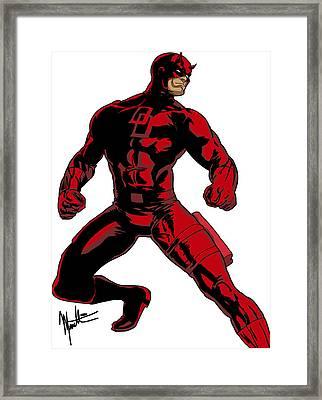 Daredevil Framed Print by Robert Massetti