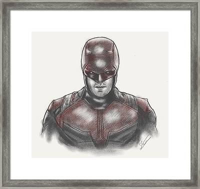 Daredevil  Framed Print by Scott Strachan