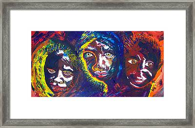 Darfur - Eyes Of The Future Framed Print by Valerie Wolf