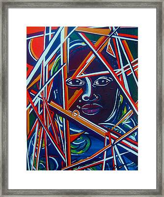 Darfur - Lady Hope Framed Print by Valerie Wolf