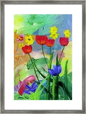 Daria's Flowers Framed Print by Jamie Frier