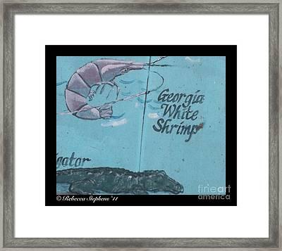 Darien Mural 3 Framed Print by Rebecca Stephens